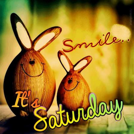 happy saturday smile